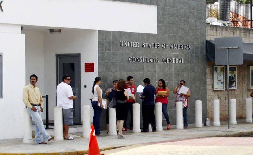 Yucatecos continúan solicitando visas para Estados Unidos. (Archivo/ Milenio Novedades)