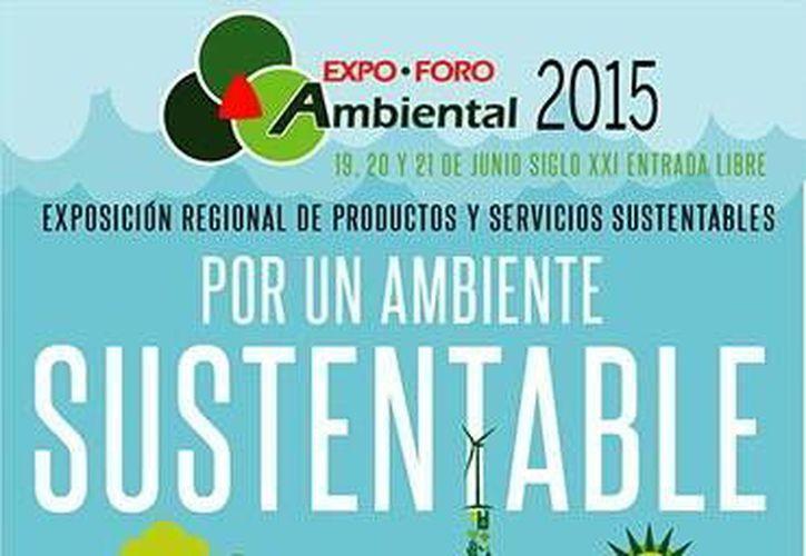 Cartel promocional de la Expo Foro Ambiental. (Milenio Novedades)