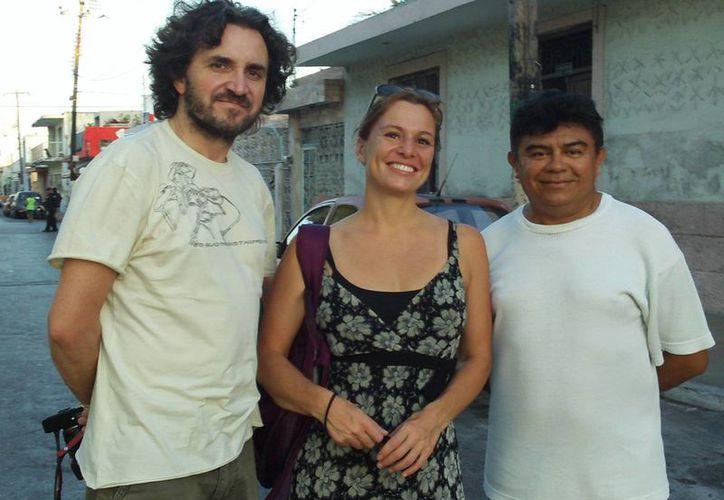 El director Jobert Sthepane y Aurelie Sehichon. (SIPSE)