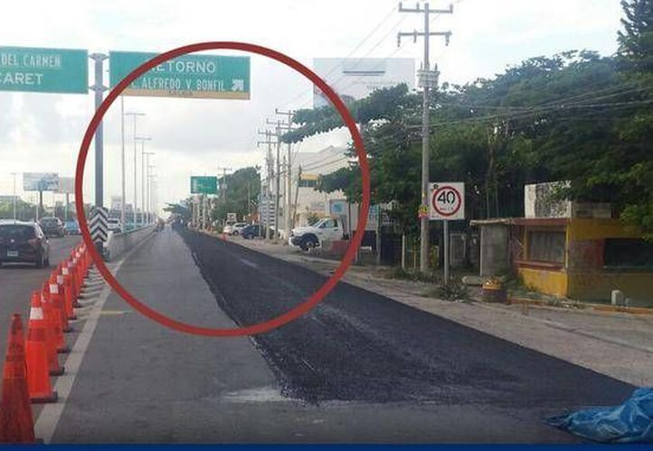 El tramo fue cerrado por obras de repavimentación.(Redacción/SIPSE)