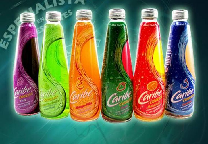 Promocional en Internet de Caribe Cooler, primera marca mezclada preenvasada en México. (Internet)