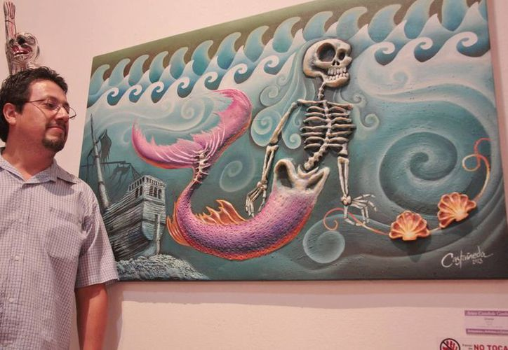 """""""Sirena"""", de Arturo Castañeda, fue una de las obras admiradas. (Gustavo Villegas/SIPSE)"""