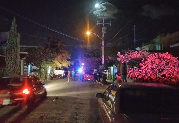 Los hechos se registraron en la calle 42, manzana 41, de la Región 515. (Eric Galindo/SIPSE)