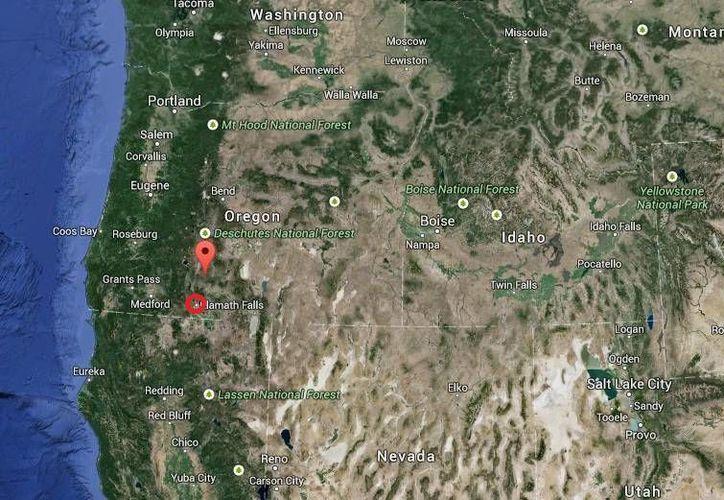 Aún no hay reporte de heridos por el incendio forestal en Klamath, Falls, Oregon. (Google Maps)