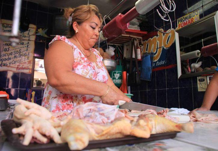 La especulación del precio del pollo no se basa en el problema de gripe aviar que atraviesan criaderos del estado de Jalisco. (Enrique Mena/SIPSE)
