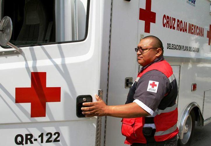 La Cruz Roja Mexicana   pretende recaudar fondos. (Octavio Martínez/ SIPSE)