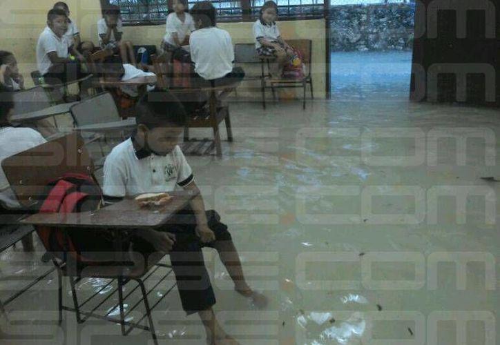 Alumnos de la escuela primaria Xicotencatl, en la Región 101. (Redacción/SIPSE)