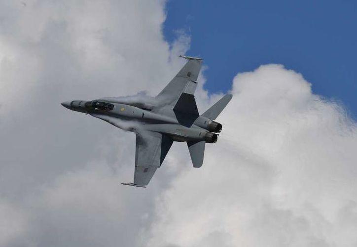 El avión de combate F/A-18E formaba parte de la compañía de la segunda ala Aérea de EU. (Foto: Paul Crock/Getty Images)