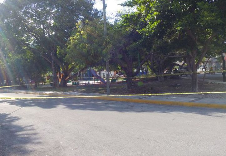 El área fue asegurada para las investigaciones correspondientes. (Eric Galindo/SIPSE)
