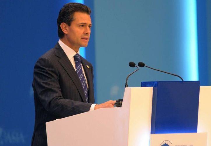 El Presidente de México, durante su participación en la Conferencia Anual 2013 del Foro Boao para Asia, en China. (Notimex)