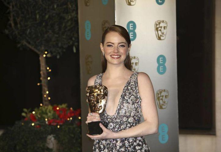 La actriz Emma Stone consiguió el premio a Mejor Actriz por su papel en 'La La Land'. (AP)