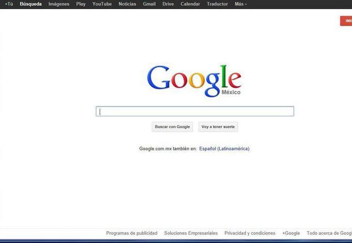 Google, el buscador más utilizado a nivel mundial. (Israel Leal/SIPSE)