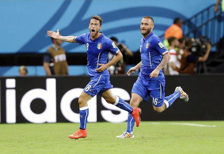Marchisio celebra el primer tanto del encuentro. (Foto: AP)