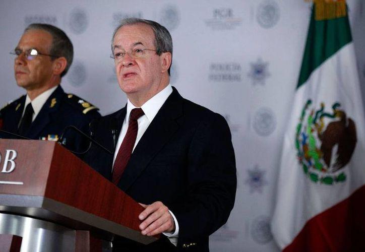 El comisionado nacional de Seguridad, Monte Alejandro Rubido, confirmó la detención de El Ferrari. (Imagen de archivo/NTX)