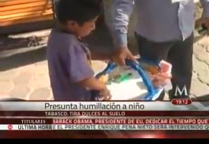 El menor humillado, que hoy está desaparecido, no se dedicaba a vender dulces y cigarros, sino que estaba de vacaciones. (Captura de pantalla de video)
