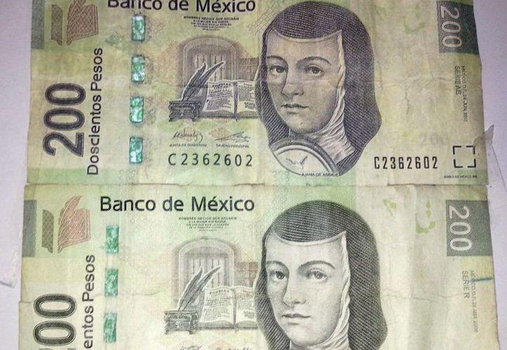 Se han detectado en la ciudad de Ticul billetes apócrifos de 200 pesos. (Milenio Novedades)