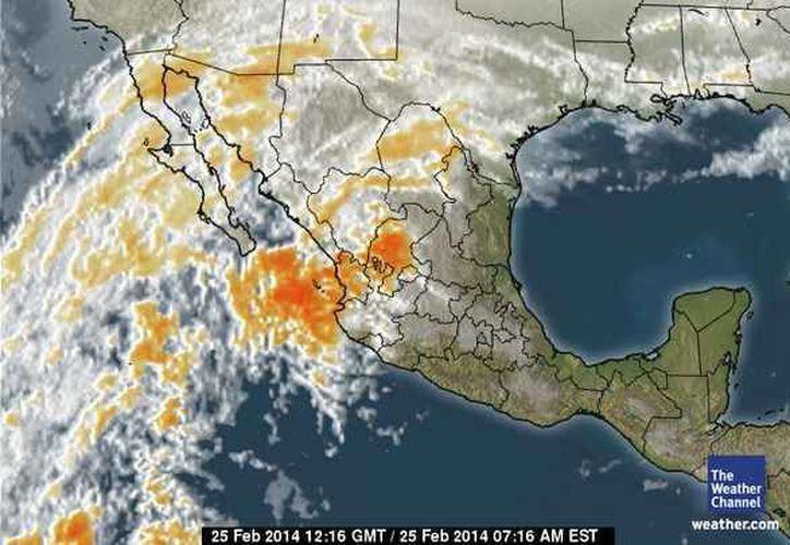 Pronostican la entrada de aire marítimo tropical con moderado contenido de humedad procedente del Golfo de México y mar Caribe hacia la Península de Yucatán. (espanol.weather.com)