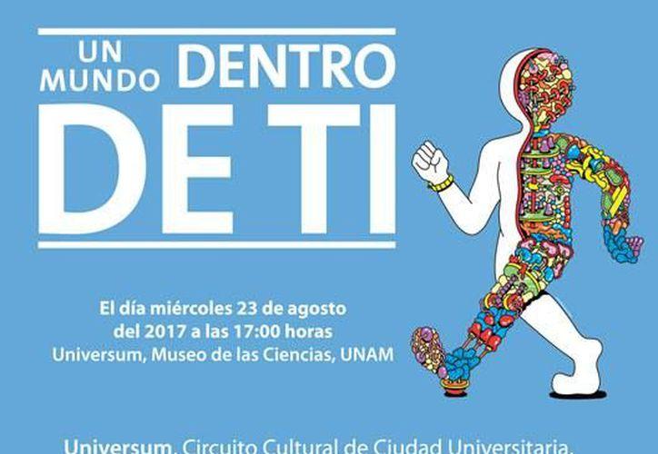 """Invitación para la apertura de la exposición """"Un Mundo Dentro de Tí"""". (Foto: Universum)"""