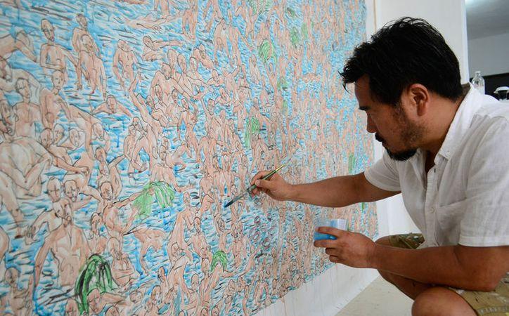 El artista Peter Kim ha presentado su obra en diversas galerías de Europa, Asia y Estados Unidos. (Daniel Sandoval/Milenio Novedades)