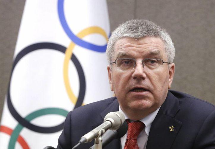Thomas Bach, director del COI, ofreció un discurso sobre los posibles cambios en la de la Agencia Mundial Antidopaje, durante la inauguración de la asamblea general de los comités olímpicos europeos, en Praga, República Checa. (AP)