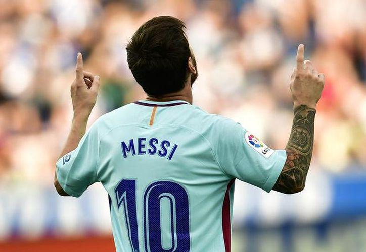 El genio argentino suma así 351 tantos en Primera División. (MundoDeportivo)