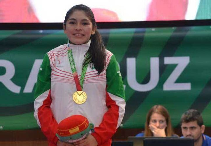 La artemarcialista cuando ganó su presea en los Centroamericanos. (Milenio Novedades)