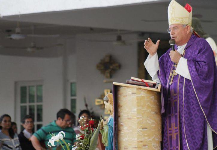 Monseñor dijo que el Papa se retira por su edad avanzada. (Jesús Tijerina/SIPSE)