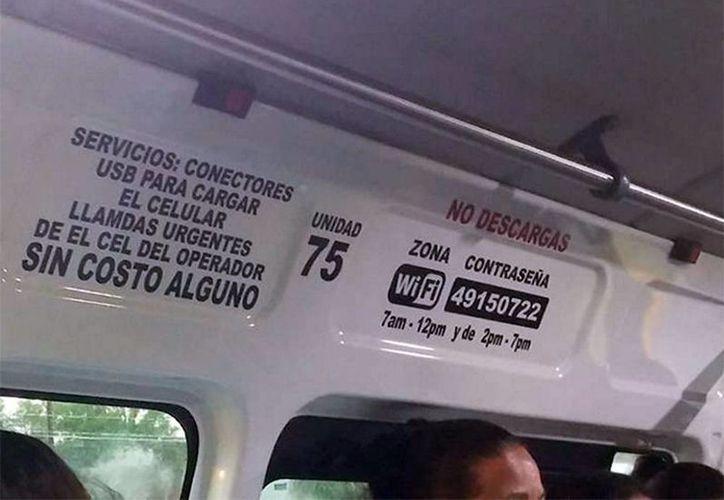 Los vehículos de transporte público ofrecen el servicio gratuito de WiFi . (Provincia.com.mx)