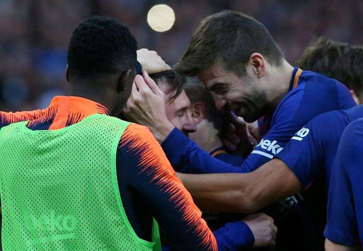 Barcelona obtuvo la victoria de 1-0 sobre el Atlético de Madrid. (Reuters)