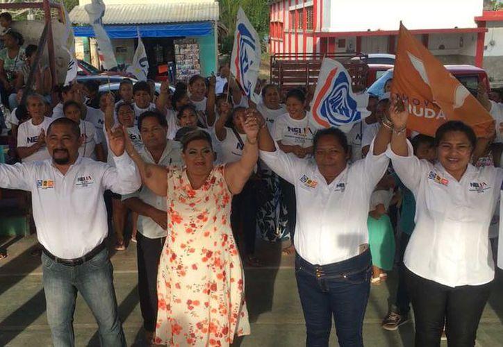 la candidata del PAN, PRD y MC, a la presidencia municipal de Bacalar, Nelia Uc. (Redacción/SIPSE)