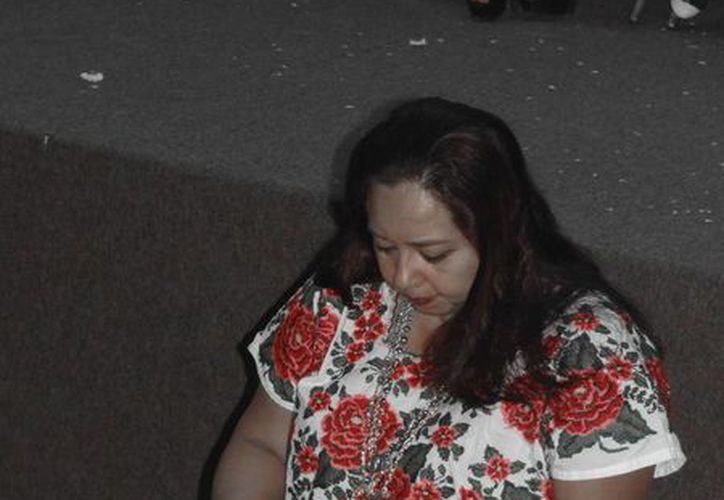 """Actuaron Conchi León, Addy Teyer, Laura Subiera y Lourdes León, durante la puesta en escena """"Del manantial del corazón"""". (Faride Cetina/SIPSE)"""
