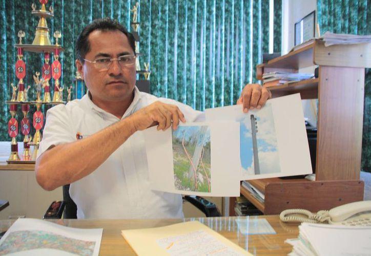 El gerente de CAPA pide recursos del Fonden. (Julián Miranda/SIPSE)