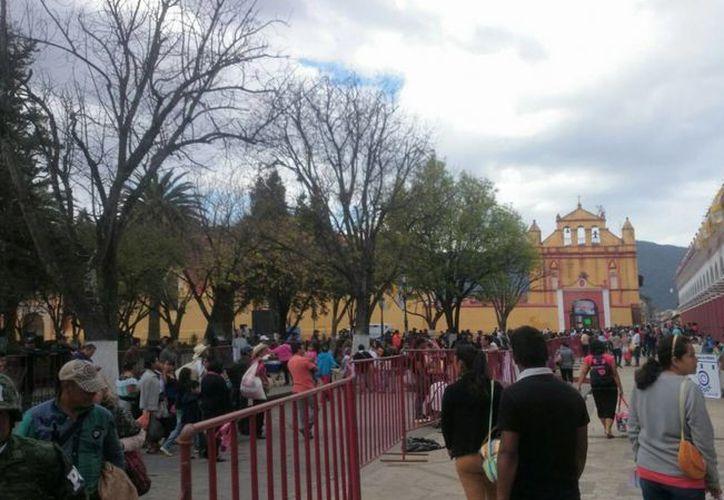 Así luce los alrededores de la catedral de San Cristobal de las Casas en donde el Papa presidirá una misa con indígenas. (Alejandro Gómez/SIPSE)