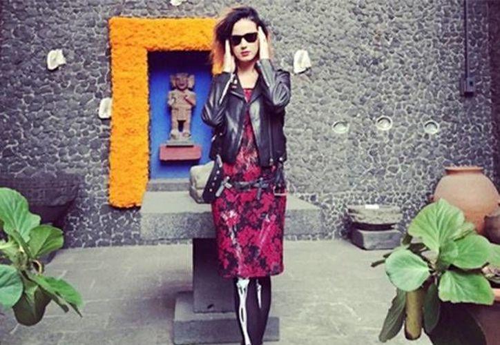 La imagen que Katy Perry compartió con sus seguidores, de su visita a la Casa Azul de Frida Kahlo y Diego Rivera en México. (Instagram)