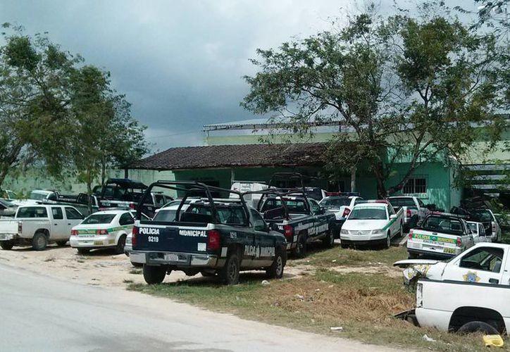 El 40% de los vehículos de la policía municipal se encuentran fuera de servicio.  (Rossy López/SIPSE)