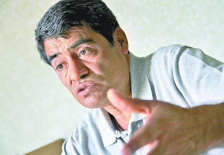 Minervino Morán, vocero de la Coordinadora Estatal de Trabajadores de la Educación de Guerrero. (Daniel Cruz/Milenio Novedades)