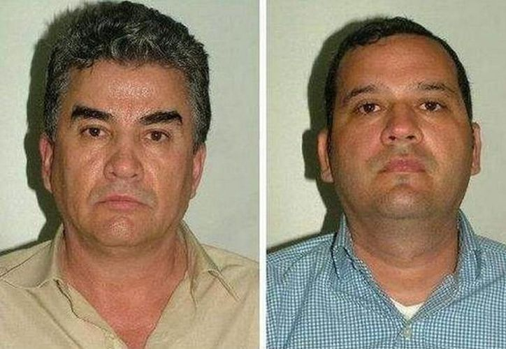 """Comienza juicio contra Manuel Jesús Gutiérrez Guzmán (d) primo de """"El Chapo"""" Guzmán, y Samuel Zazueta Valenzuela y dos inculpados más. (EFE/Archivo)"""