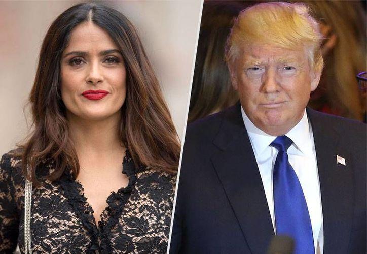 Finalmente el encuentro entre Salma Hayek y Donald Trump no se concretó. (people.com)