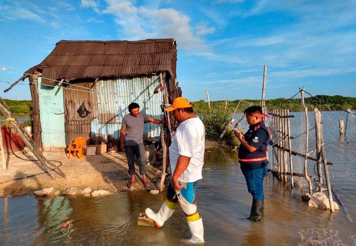 Se inundan colonias de Celestún.(Foto: Novedades Yucatán)