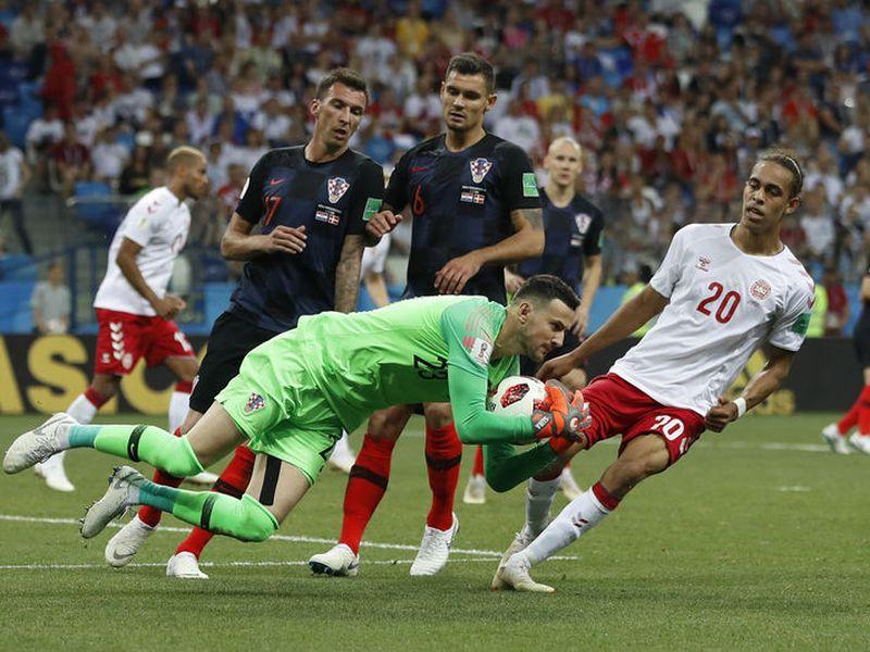 Croacia  superó a Dinamarca por un pase a cuartos, donde les espera el anfitrión Rusia) (Foto: AP)