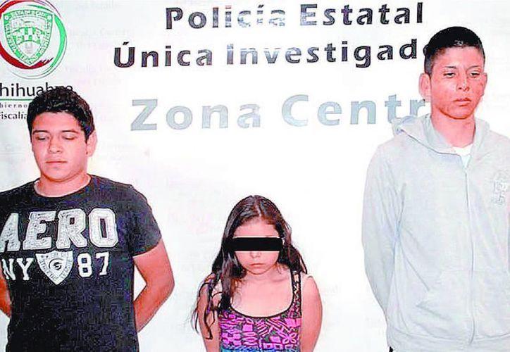 El novio, la adolescente y el amigo implicados en el doble asesinato. (Milenio)