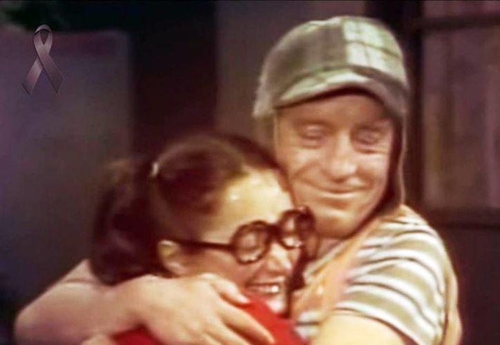 Imagen del programa El Chavo del 8 con la Chilindrina y el personaje de Roberto Gómez Bolaños. (Facebook LaChilindrinaSitioOficial)