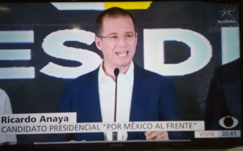 Anaya mandó todo su apoyo al Andrés Manuel López Obrador.