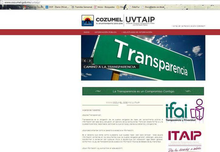 Del 30 de septiembre de 2013 al 25 de febrero, la página de internet estuvo en mantenimiento. (Julián Miranda/SIPSE)