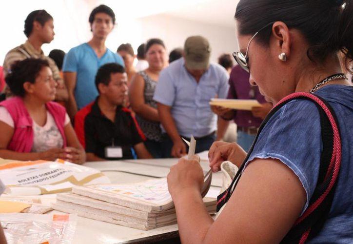 Ayer se recontaron los votos de los paquetes electorales de más del 60% de las casillas instaladas en Solidaridad. (Adrián Barreto/SIPSE)