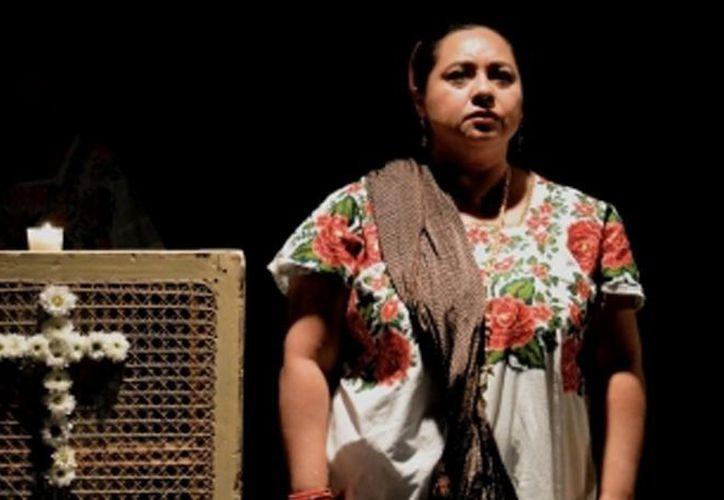 La compañía de teatro  yucateca  Sa'as Tun, viajará próximamente. Foto: (Uniradio Informa).