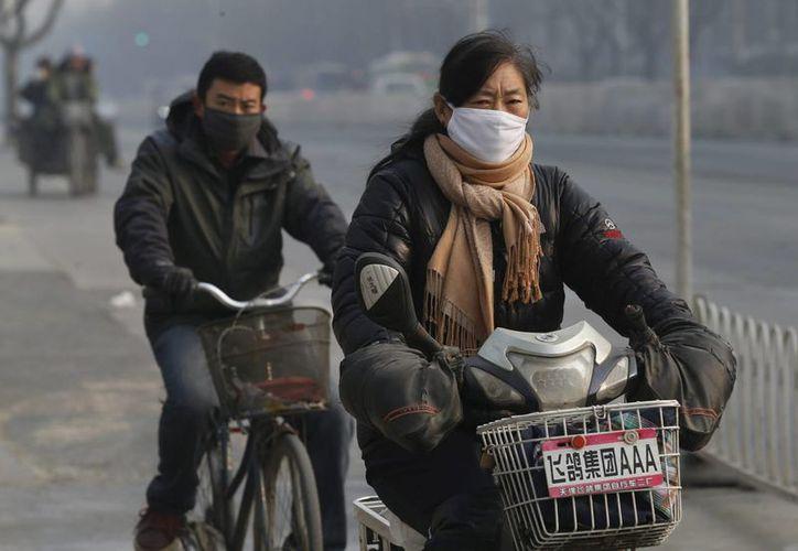 La alerta nacional por contaminación en China se encuentra en nivel naranja, segundo en gravedad. (EFE)