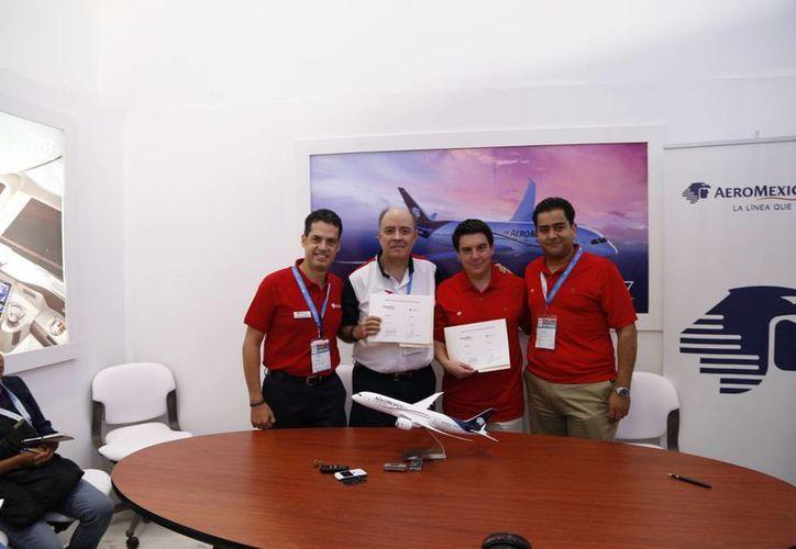 Las declaraciones de Aeroméxico se realizaron en el marco de la firma de convenio con la compañía de servicios turístico Best Day. (Israel Leal/SIPSE)