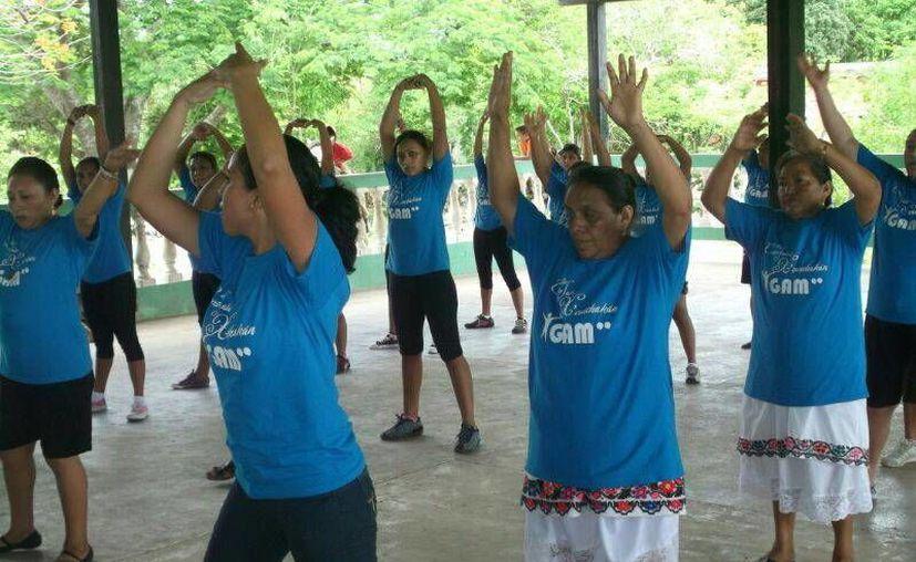 La evaluación al GAM concluyó con una muestra de diversas actividades físicas. (Cortesía)