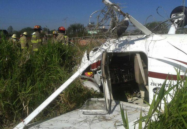 La avioneta debía dirigirse de Guadalajara hacia La Piedad, Michoacán, cuando ocurrió el accidente. (Notimex)